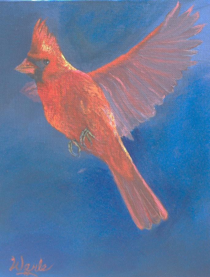 Cardinal Painting - Wings Of A Prayer by Bill Werle