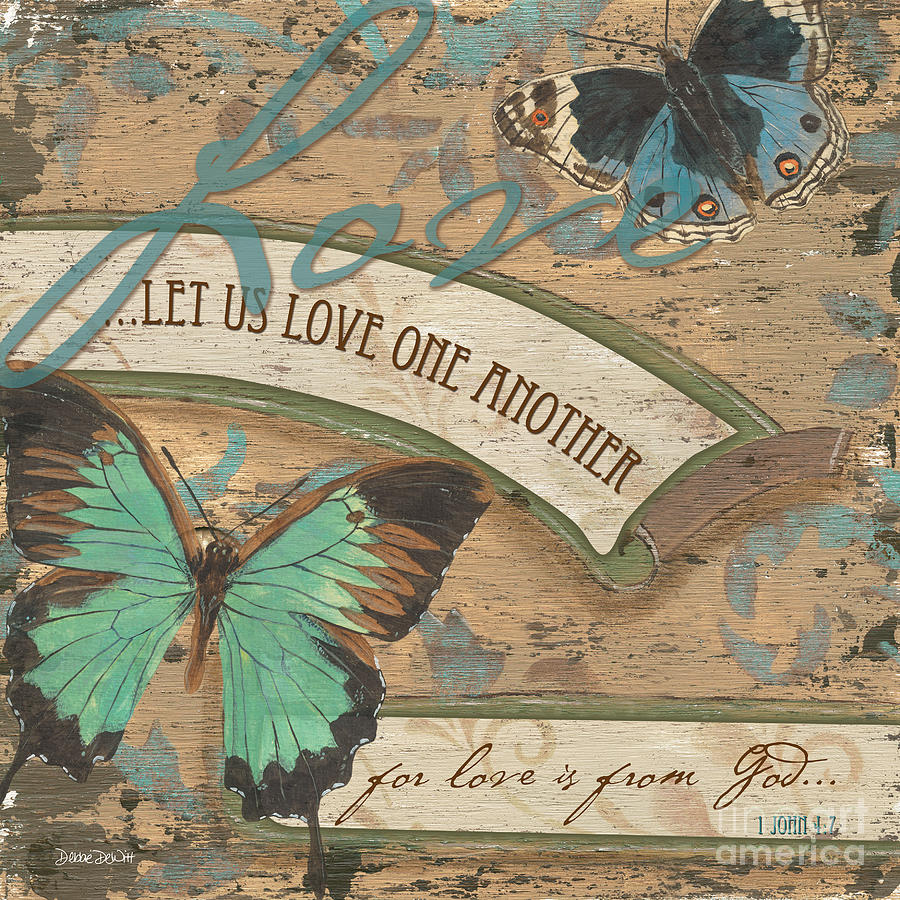 Butterfly Painting - Wings Of Love by Debbie DeWitt