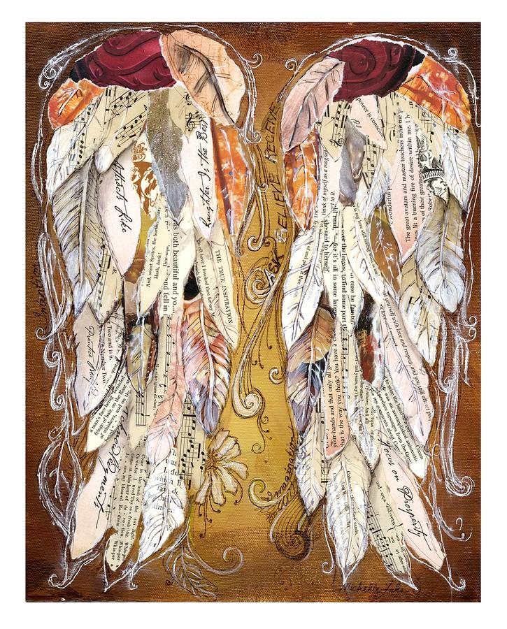 Wings Of Love Painting - Wings Of Love Sienna by Michelle Lake