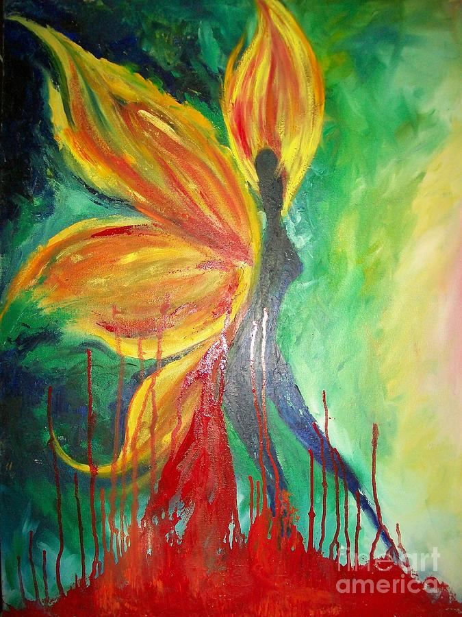 Wings Of Wishes Painting by Sonia Singh