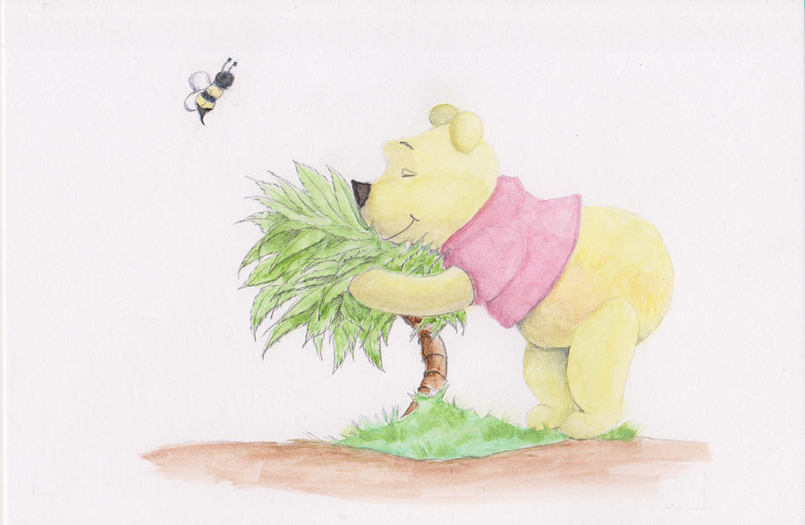Winnie the Pooh in a Bush by Steven Powers SMP