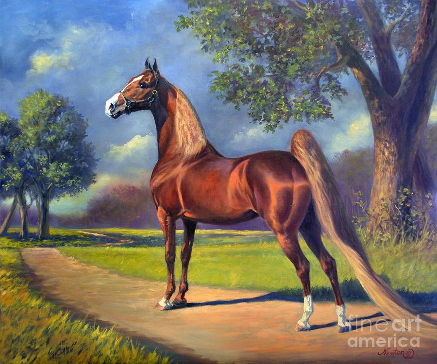 American Saddlebred Painting - Winsdown Celebration by Jeanne Newton Schoborg
