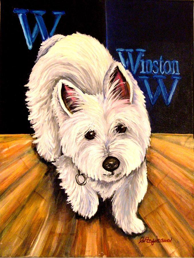 Winston Painting by Carol Allen Anfinsen