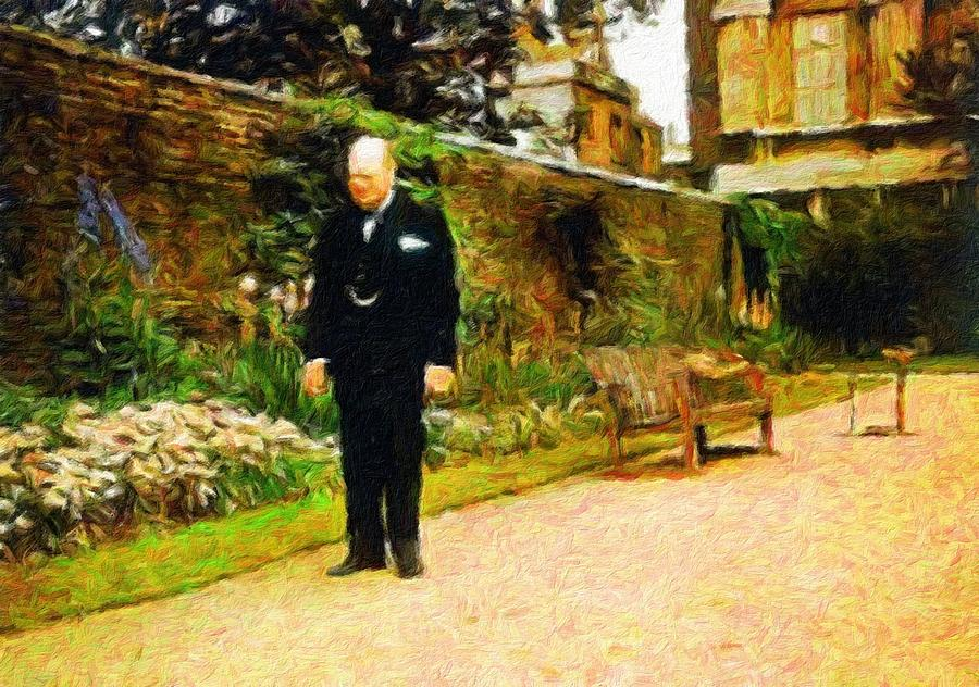 Winston Churchill Painting - Winston Churchill, 1943 by Vincent Monozlay