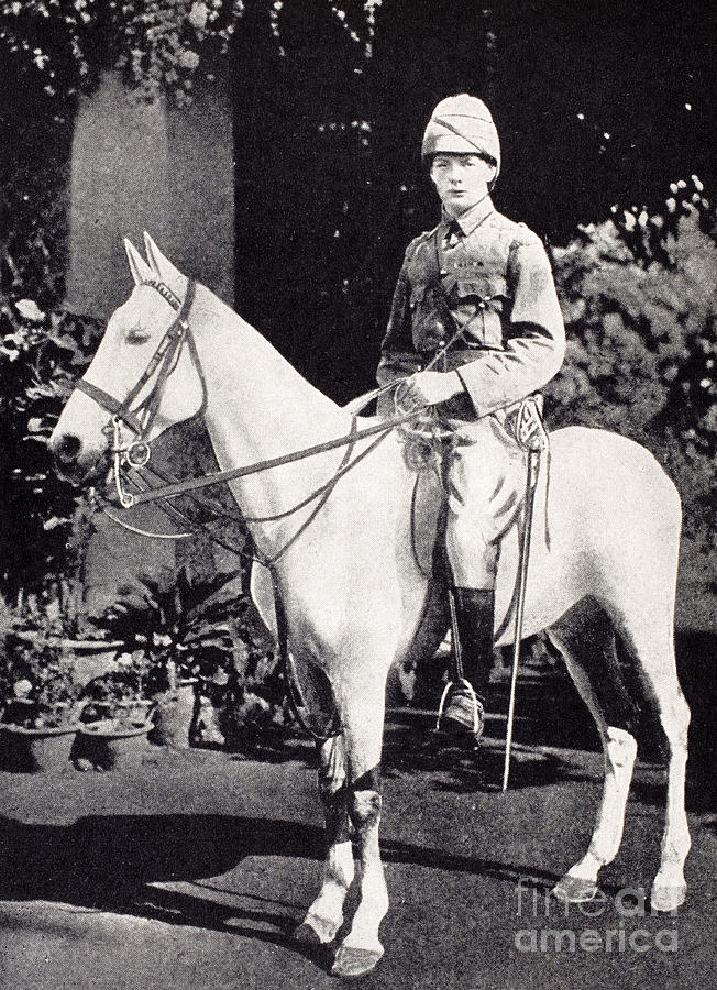 Winston Churchill Photograph - Winston Churchill On Horseback In Bangalore, India In 1897 by English School