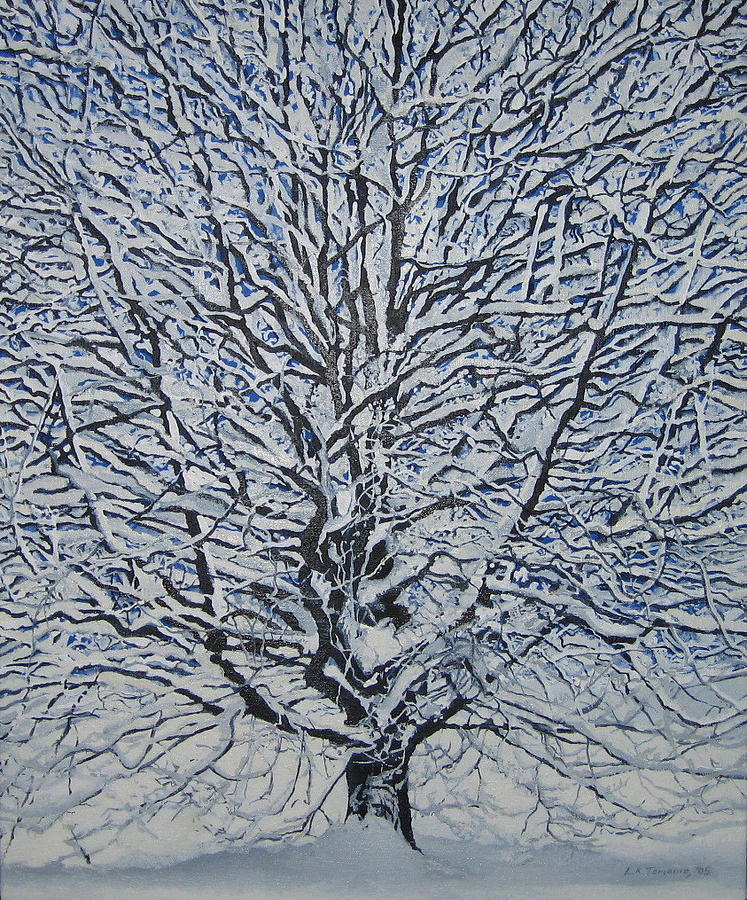 Winter Painting - Winter 05 by Leah  Tomaino