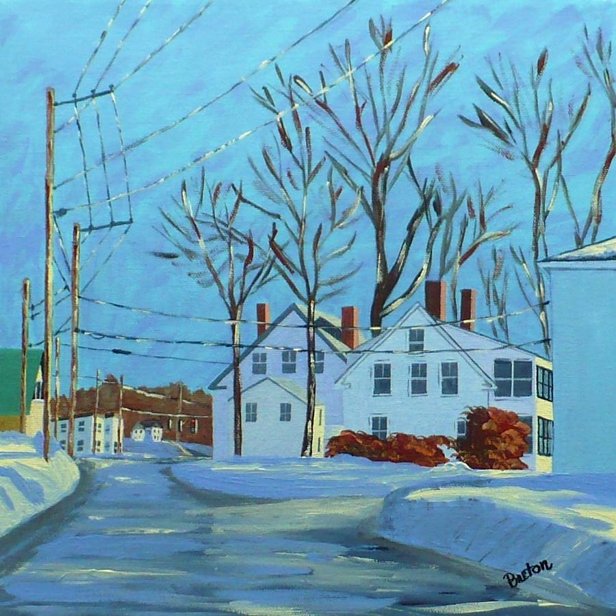 Cityscape Painting - Winter Afternoon Bridge Street by Laurie Breton