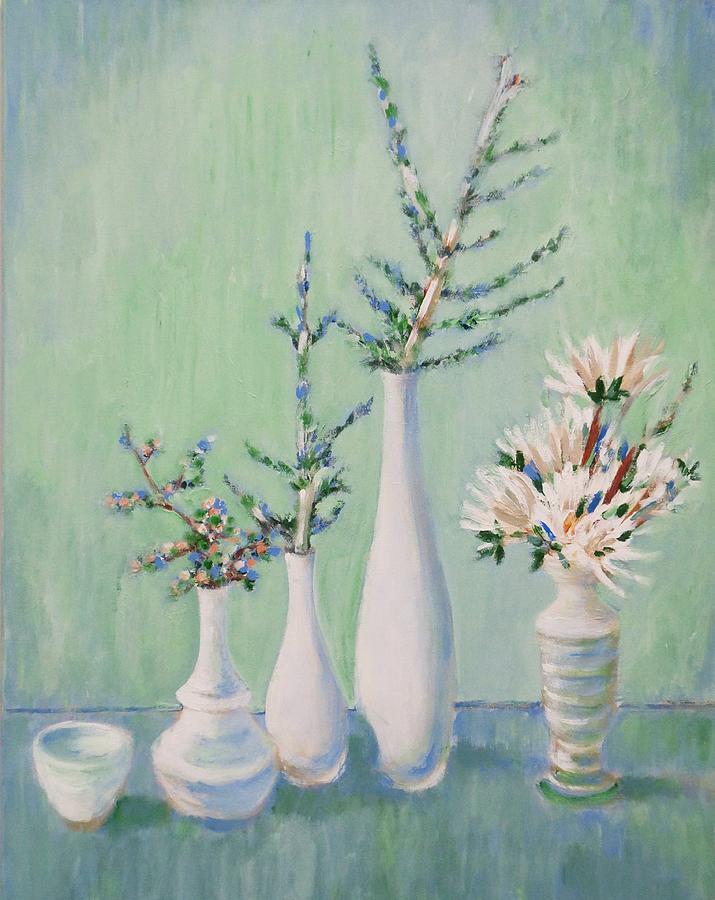 Still Life Painting - Winter Arrangement by Fran Steinmark