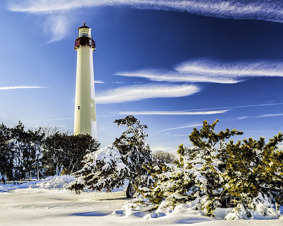 Beacon Photograph - Winter At Cape May Light by Nick Zelinsky