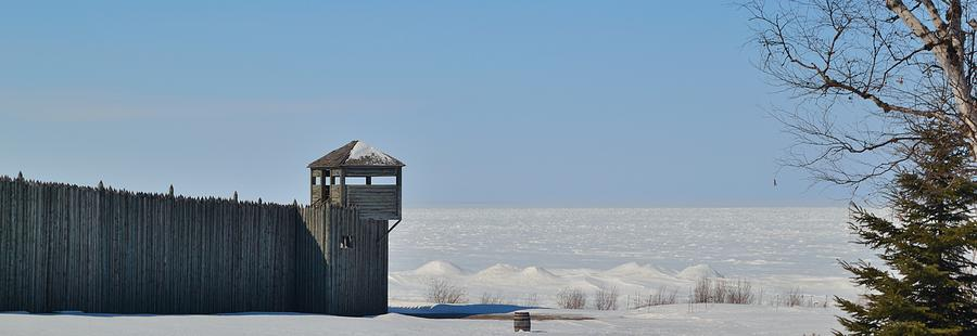 Fort Michilimackinac Photograph - Winter At Fort Michilimackinac by Mikel Classen