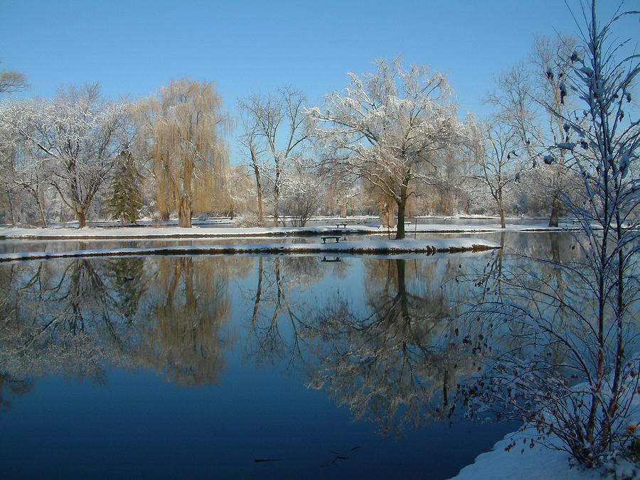 Water Photograph - Winter At Hidden Lakes by Gregory Jeffries