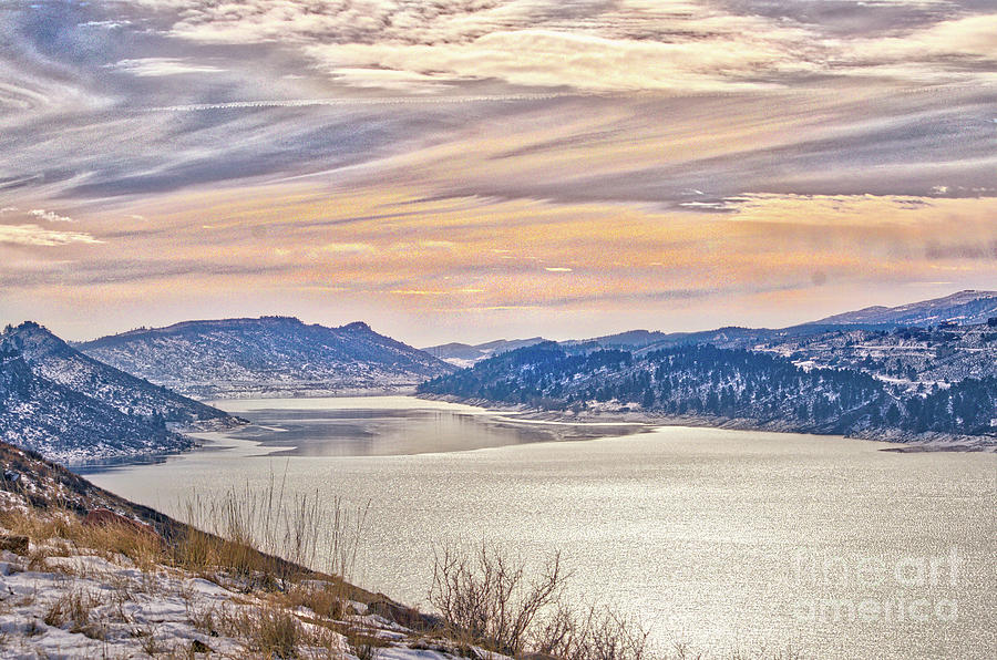 Winter at Horsetooth Reservior by Cindy Schneider