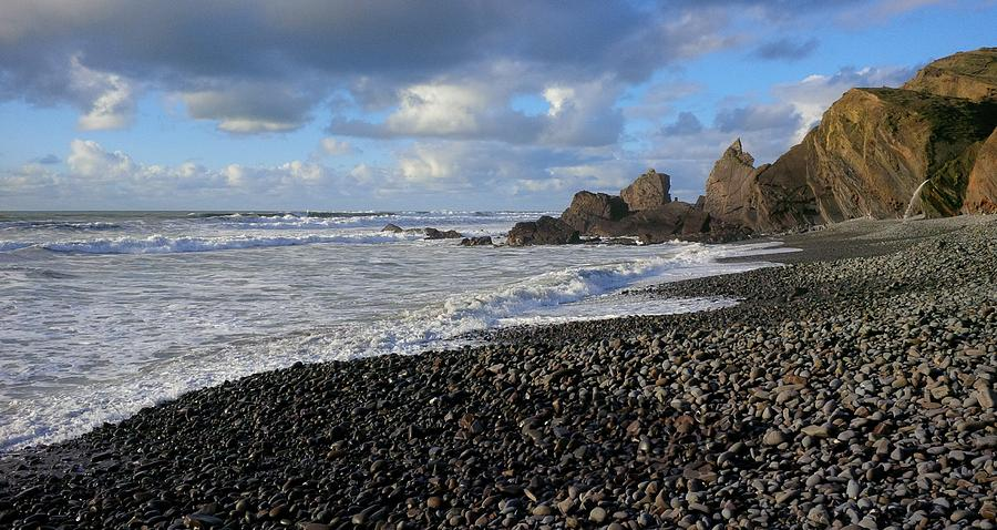 Beach Photograph - Winter At Sandymouth by Richard Brookes