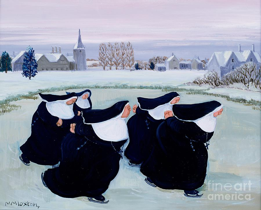 Habit Painting - Winter At The Convent by Margaret Loxton