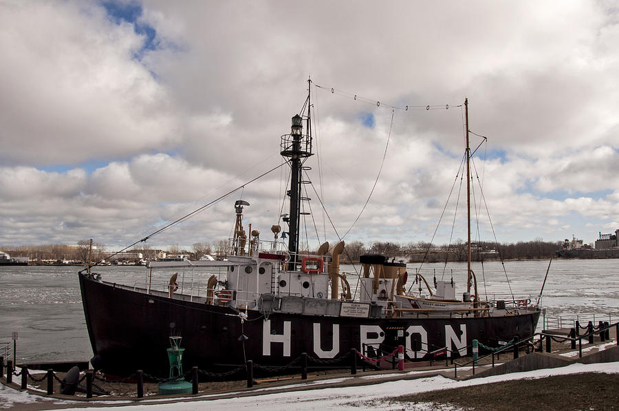 Winter At The Huron Lightship Photograph