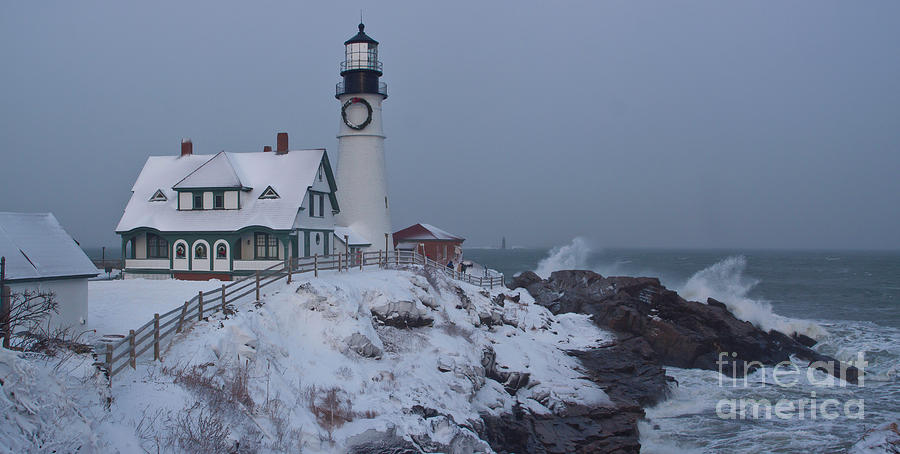 Winter At The Lighthouse Photograph by David Bishop