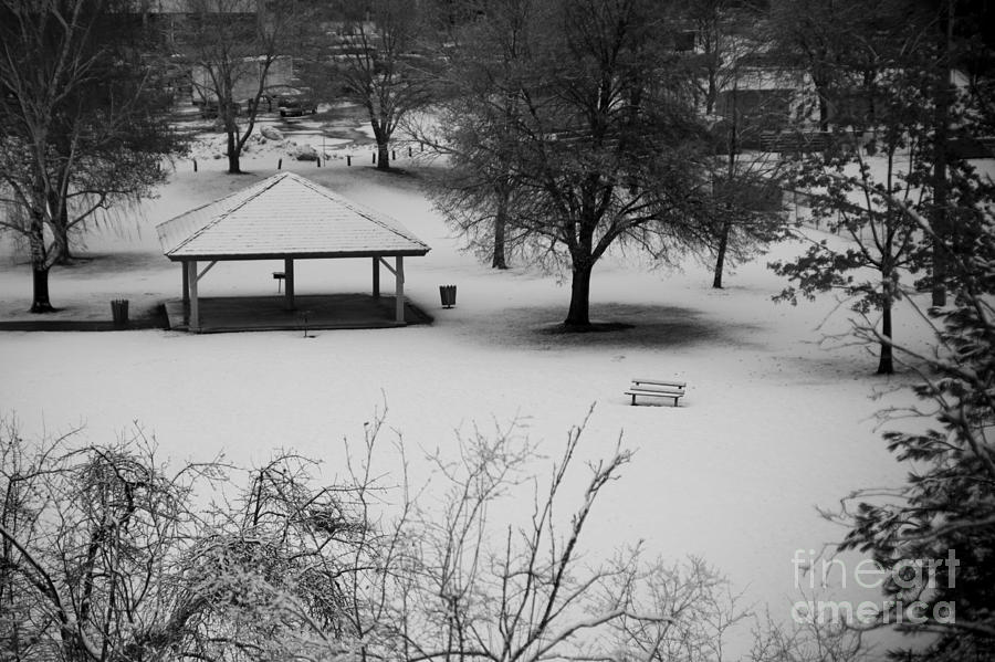 Shelter Photograph - Winter At The Park by Idaho Scenic Images Linda Lantzy