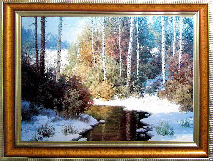Landscape Painting - Winter by Baoling Peng
