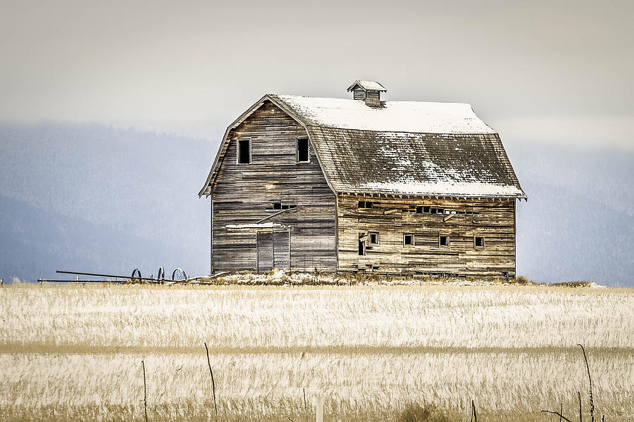 Thompson Photograph - Winter Barn by Bryan Moore