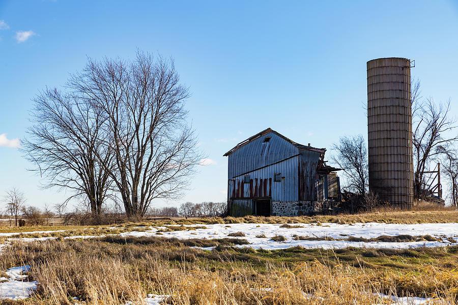 Wisconsin Photograph - Winter Barn by Kathleen Scanlan