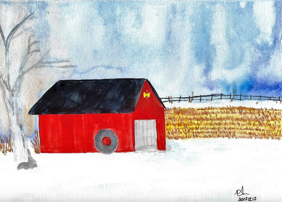 Winter Barn by Mark C Jackson
