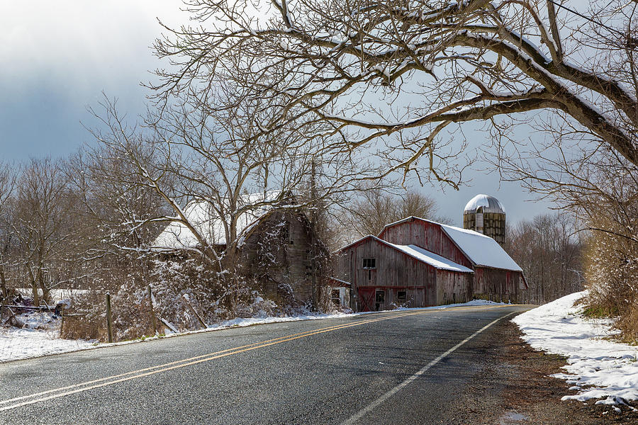 Winter Barn by Sara Hudock