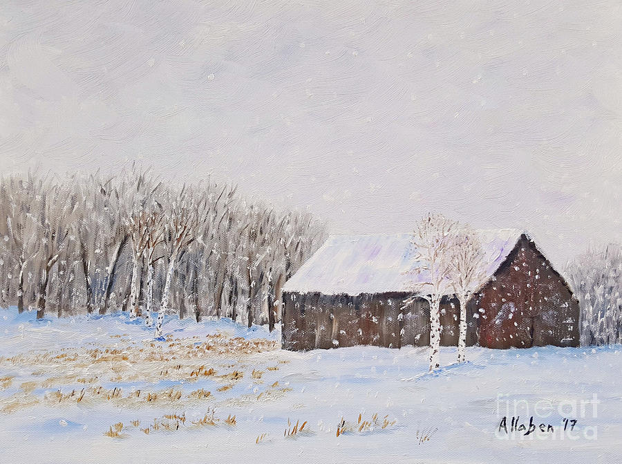 Winter Barn by Stanton Allaben