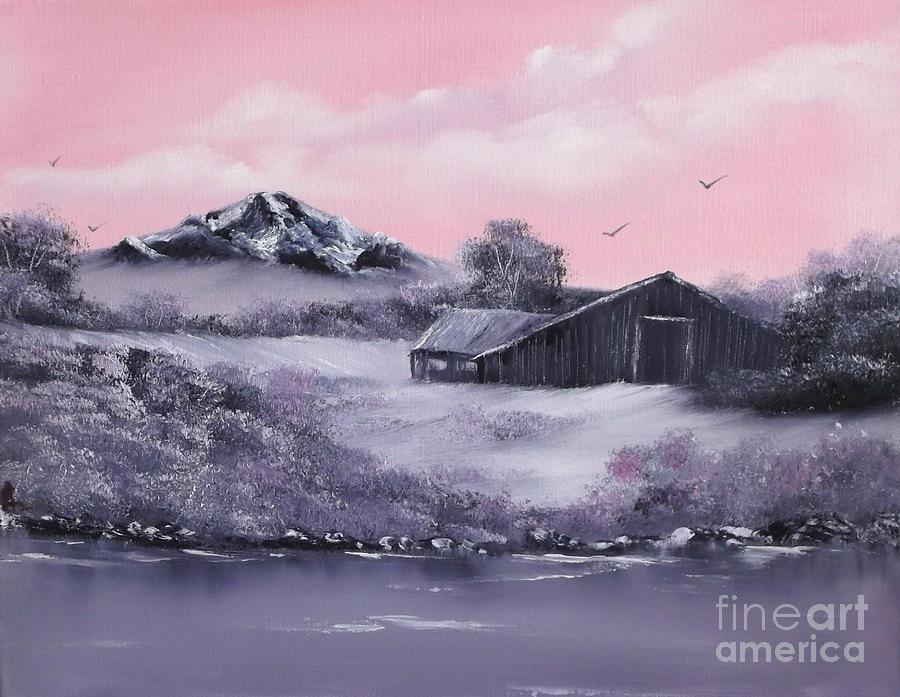 Barns Painting - Winter Barns by Cynthia Adams