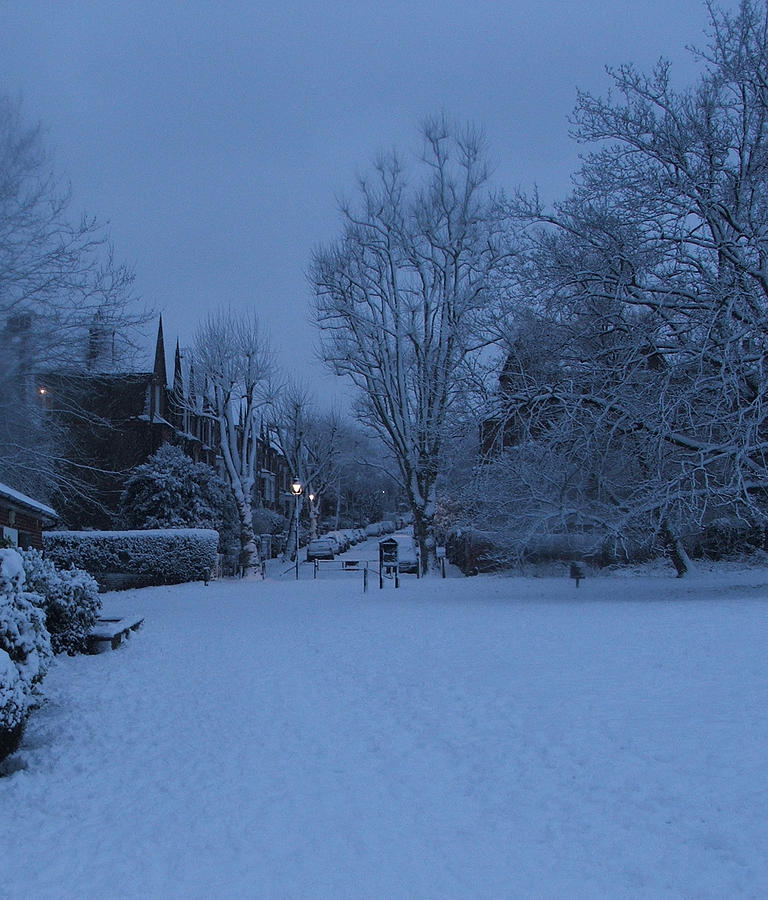 Snow Photograph - Winter Blue Britain by Heather Lennox