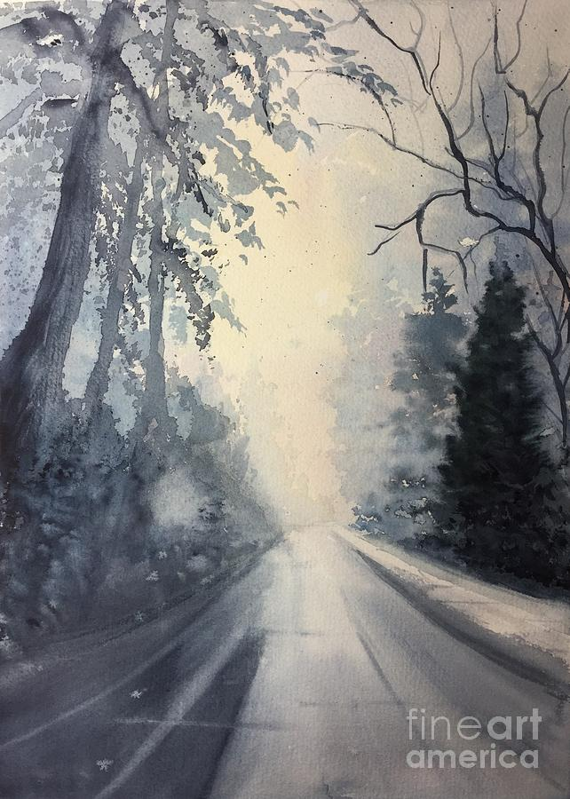 Watercolor Painting - Winter Blues by Watercolor Meditations