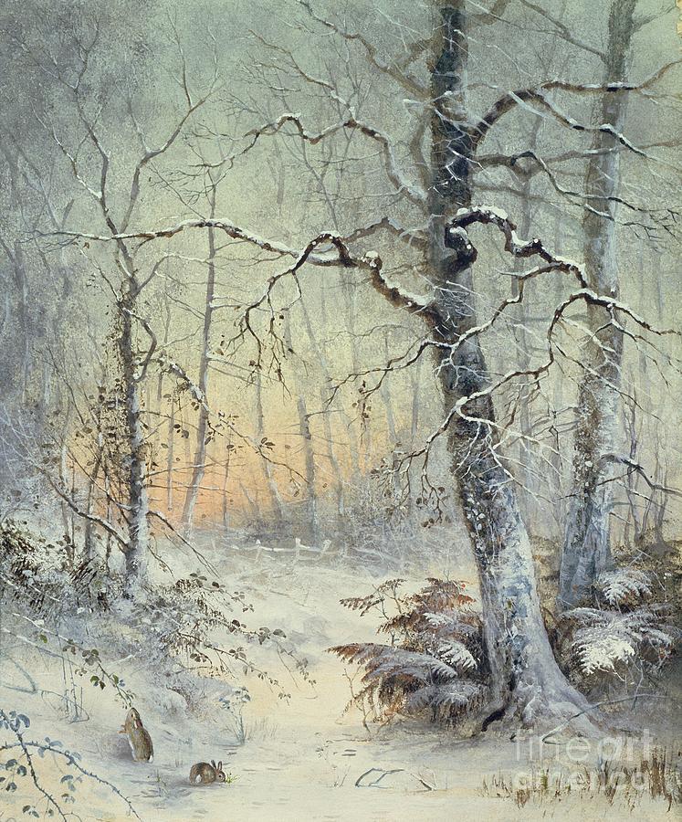 Winter Painting - Winter Breakfast by Joseph Farquharson