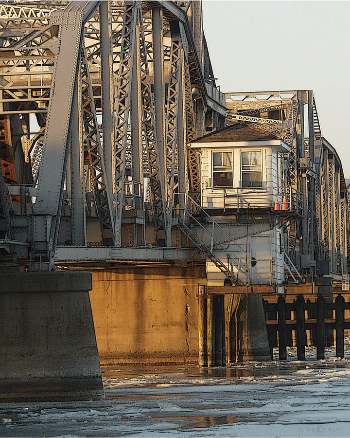 Bridge Photograph - Winter Bridgehouse by Tim Nyberg