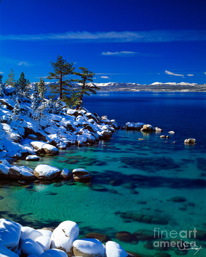 Lake Tahoe Photograph - Winter Calm Lake Tahoe by Vance Fox