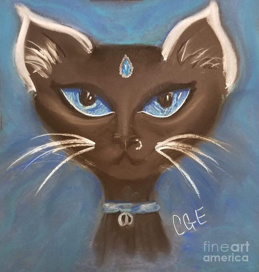 Cat Pastel - Winter Cat by Crystal Elswick