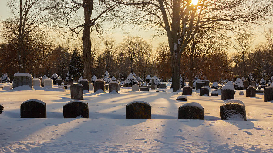 Winter Cemetery  by Kirkodd Photography Of New England