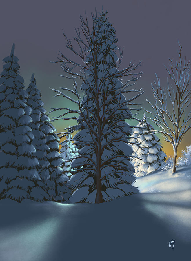 Winter Painting - Winter Charm by Veronica Minozzi