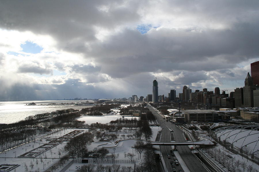 Winter Photograph - Winter Clouds Over Grant Park by Gregory Jeffries