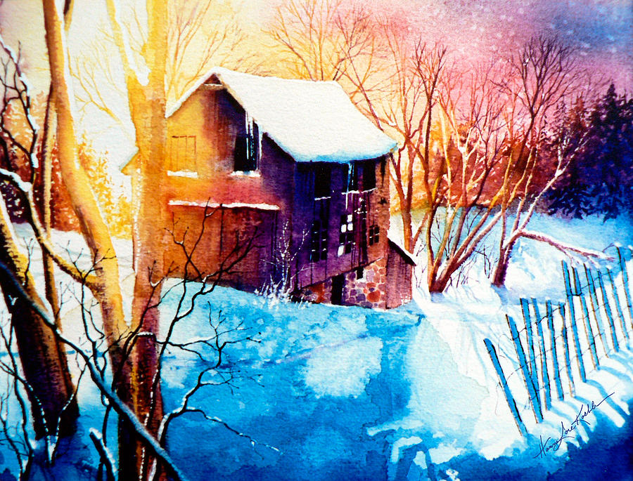 Winter Color Painting By Hanne Lore Koehler