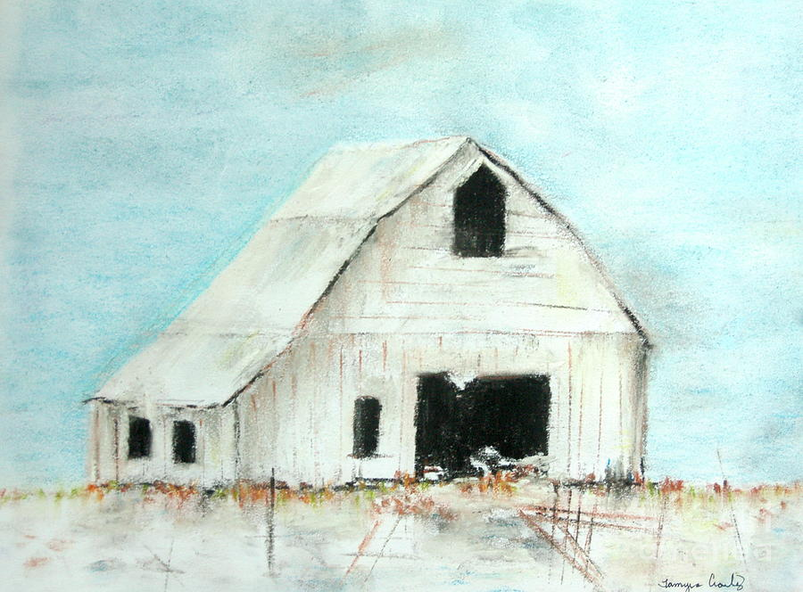 Winter Country Barn by Tamyra Crossley