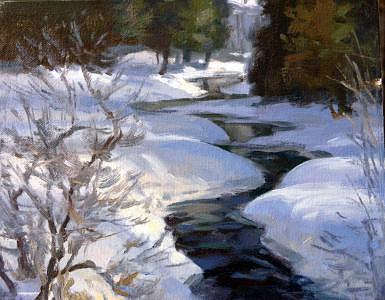 Winter Painting - Winter Creek by Tony Bianco