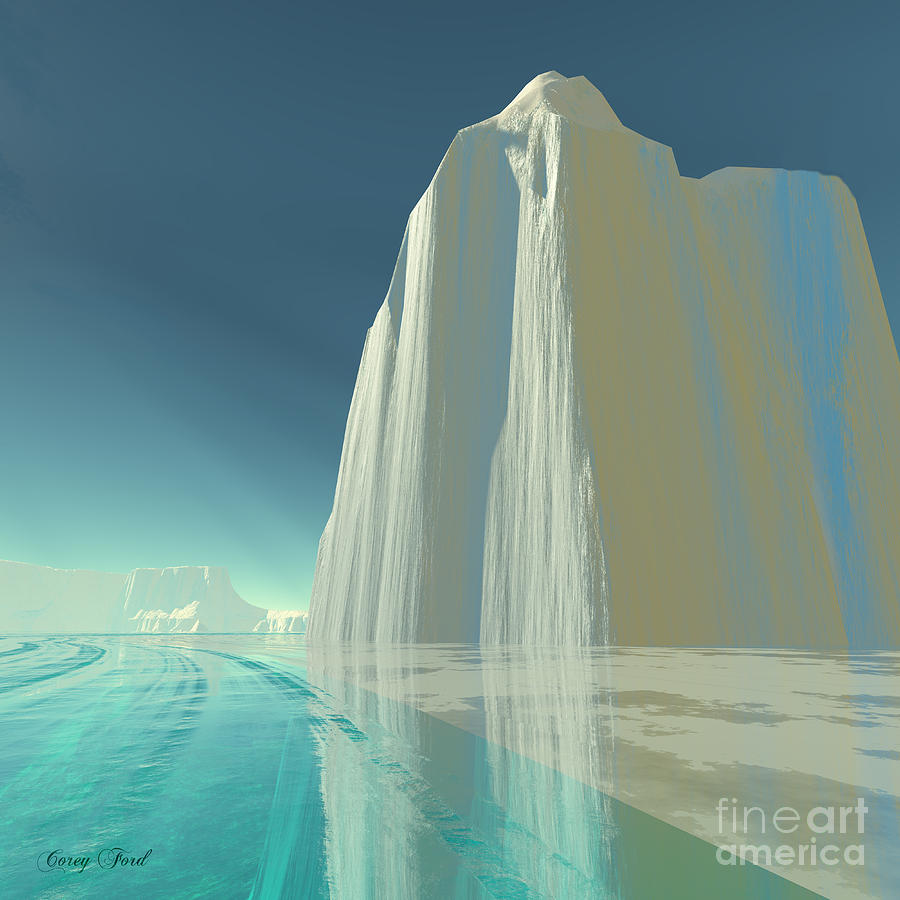 Crystal Painting - Winter Crystal by Corey Ford
