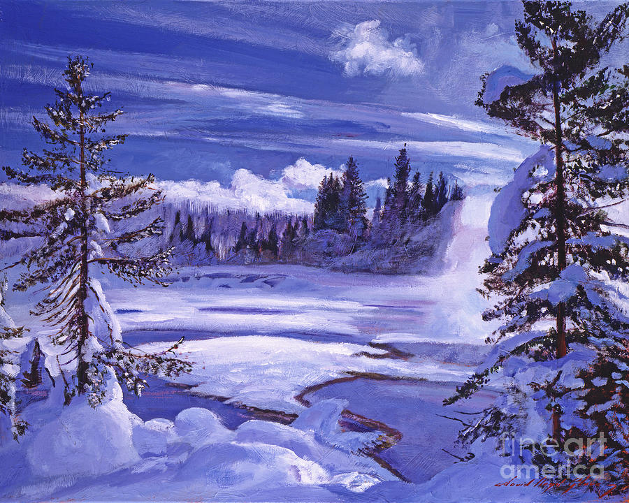 Snow Painting - Winter by David Lloyd Glover