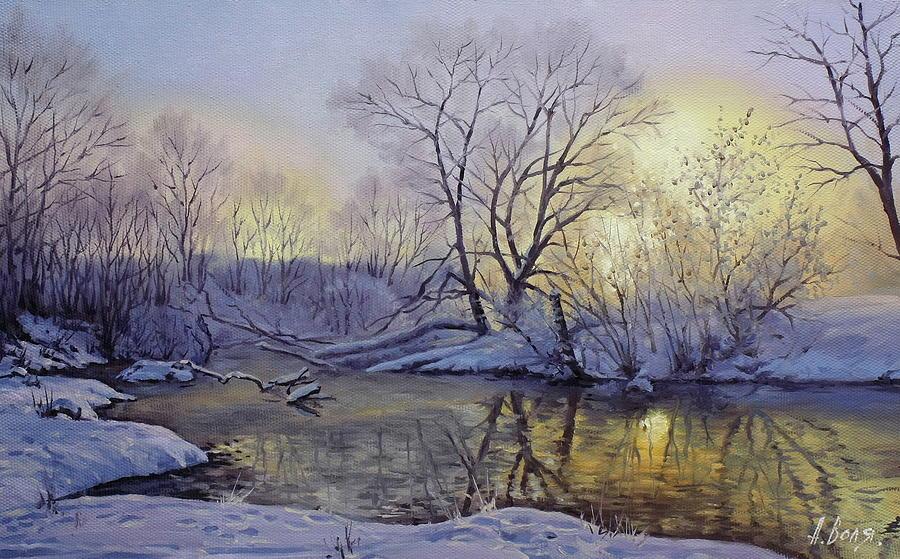 Winter Painting - Winter Dawn by Alexander Volya