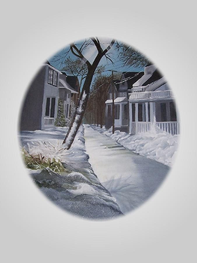 Snow Painting - Winter Day by Kathleen Romana