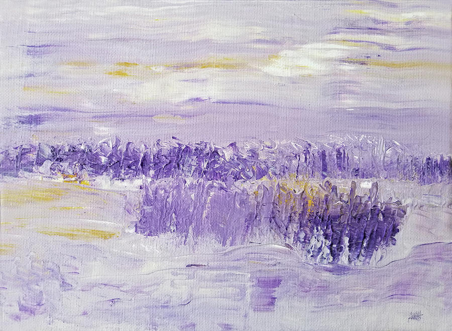 Abstract Painting - Winter Day by Maura Satchell