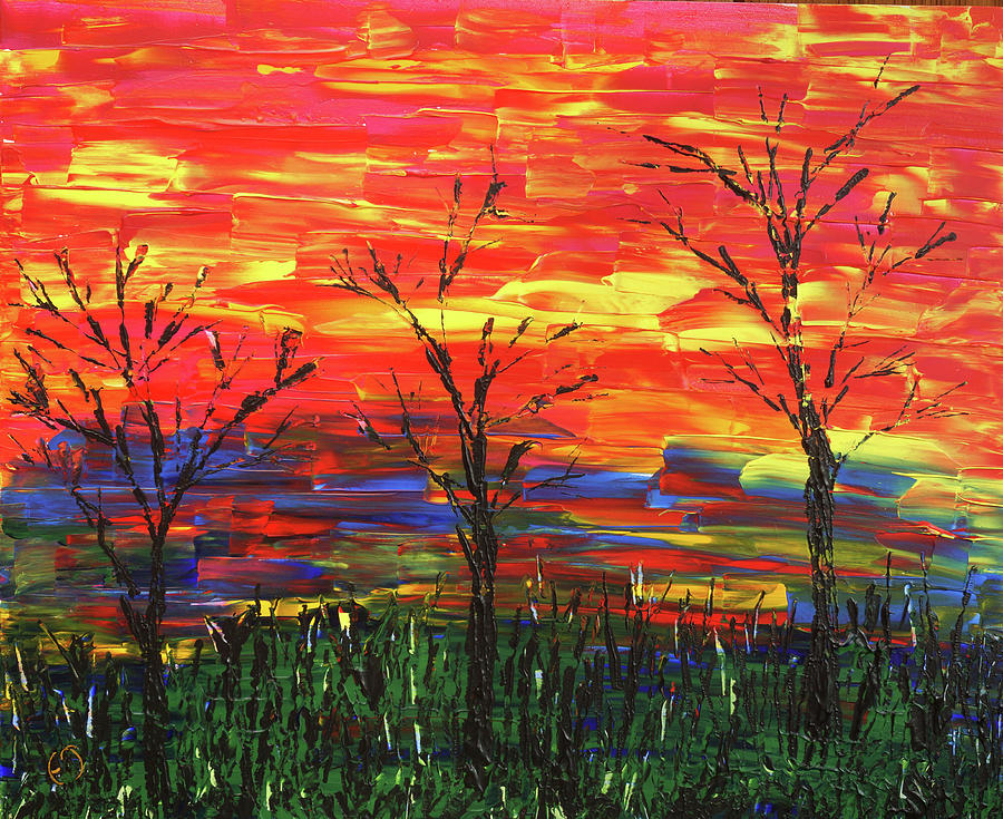 Winter Painting - Winter Evening by Erik Tanghe