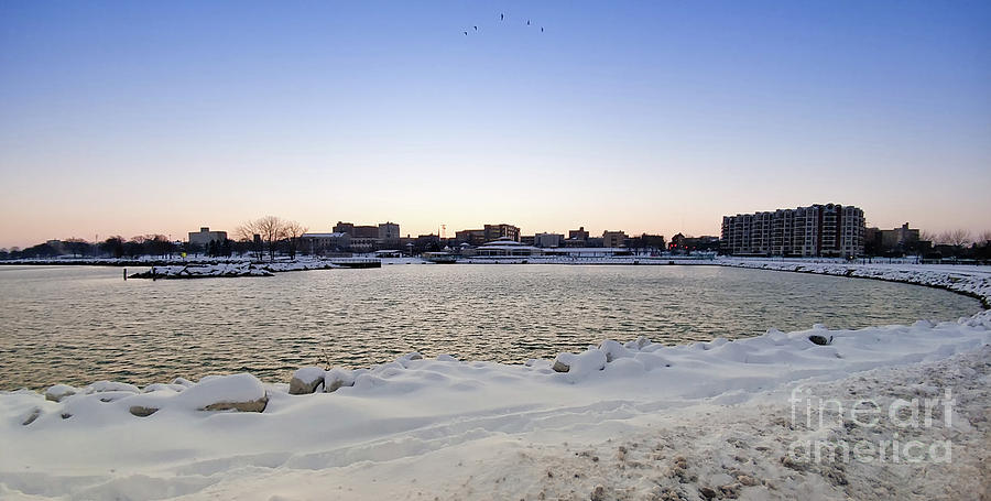 Landscape Photograph - Winter Evening In Racine by Ricky L Jones
