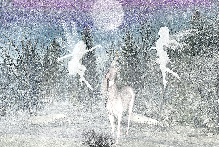 Winter fairy Magic Digital Art by Lisa Roy