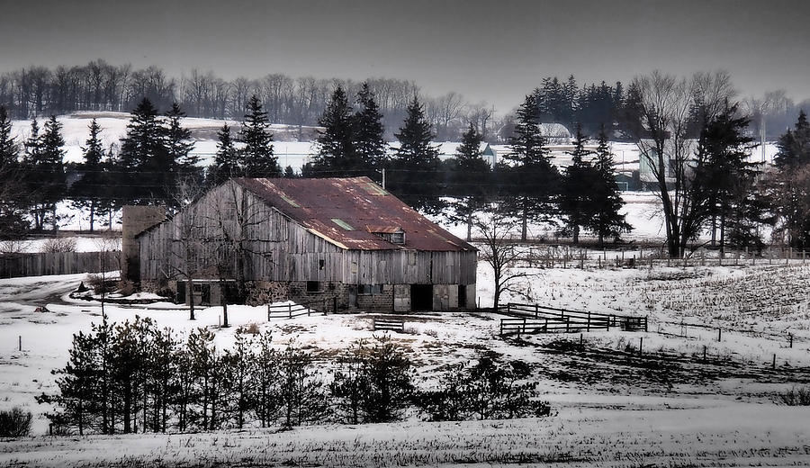 Winter Photograph - Winter Farm by Chesley House