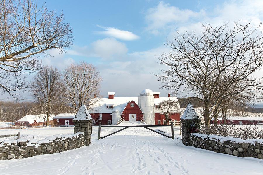 Winter Farm by Sara Hudock